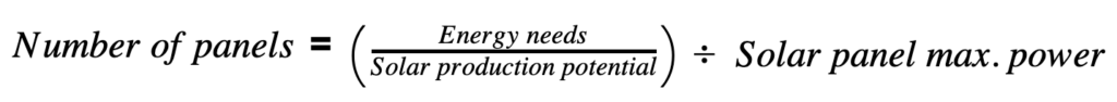 Solar Modules Formula